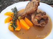 Poulet l'orange romarin Clichés diapo