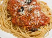 Spaghetti Bolognaise cannelle olives