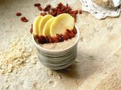 Porridge souchet, pommes goji