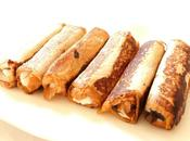 French toast rolls (pain perdu roulé) ricotta chocolat