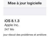 iPhone bêta plus rapide qu'iOS 8.1.3