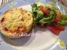Tartelettes soufflées jambon/fromage