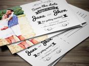 mariage décoré cartes postales pour thème voyage