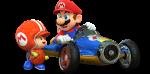 Mario kart appuie champignon
