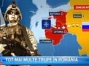 Roumanie. blindes l'us army paradent plein bucarest fond militarisme russophobie