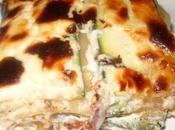 Lasagnes courgettes, bacon chèvre frais