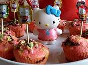 Mini cupcakes rose Hello Kitty