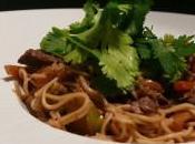 Nouilles chinoises sautées boeuf