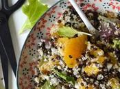 Salade lentilles noires, chou-fleur orange Mi-cru, mi-cuit