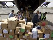 Yémen premières aides médicales arrivent, avion, Sanaa
