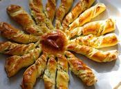 Soleil torsadé brioché herbes ricotta Finger food twist bread