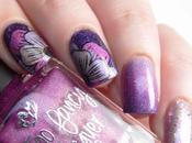 Reverse stamping week Spring nails
