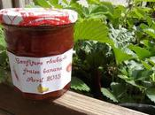 Confiture rhubarbe, fraise banane