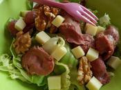 Salade comté, gésiers noix