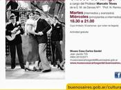 cours danse reprennent Museo Casa Carlos Gardel l'affiche]