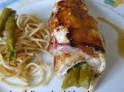 blancs poulet farcis asperges vertes