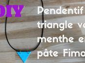 Comment faire pendentif triangle vert menthe pâte Fimo (pâte polymère)?