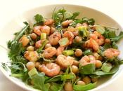 Salade crevette pois chiches roquette