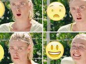 Quand stars tennis féminin font têtes d'Emoji