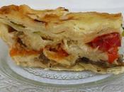 Lasagnes légumes (courgette, poivrons, aubergines, patate douce) béchamel