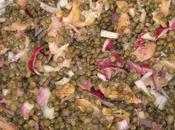 Salade lentilles saumon fumé