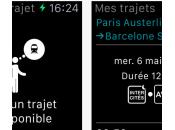 SNCF nouvelles fonctionnalités version Apple Watch