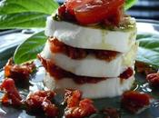 Salade caprese tomates sechees