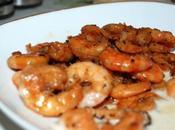 Crevettes marinée sauce soja barbecue