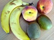 fabuleuse recette smoothie d'été Banane Kiwi Pêche Menthe