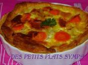 Tartelette poireaux carottes colin curcuma