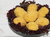 Croquettes poulet sans friture, farcies cheddar