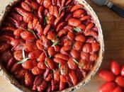 Tarte tomates, fraises parfum basilic