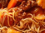 pâtes sauce bolognaise carotte navet facile