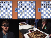 Magnus Carlsen joue simultanée l'aveugle