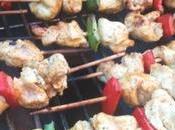 Brochettes poulet mariné