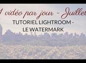 Tuto Lightroom watermark