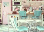 Envie Retro pastel dans cuisine