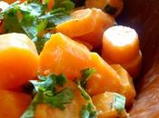 °salade carottes cuites, cumin coriandre°