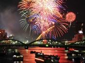 Paysage Mois (Juillet) rivière Sumida Tokyo pour feux d'artifice