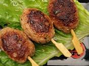 Tsukuné brochettes viande japonaises