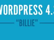 nouveautées Wordpress BILLIE