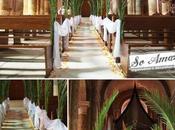 Quelques idées pour décorer allées bancs mariage