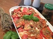 Gratin d'aubergines, courgettes tomates