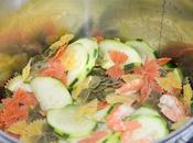 Recette pasta courgettes crevettes