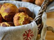 Petits pains courge butternut, noix Cantal