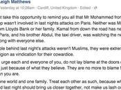 Attentats Paris Anglais poste message Facebook tout monde doit lire