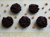 bouchées chocolat noir avec pommes séchées flakes complet (diététiques, sans sucre, stévia, riches fibres)
