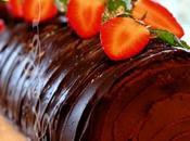 ~Bûche crème mascarpone, fraises chocolat~