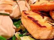 Tofu romarin légumes verts