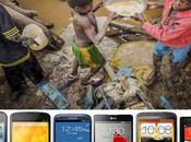 téléphones intelligents sueur front enfants